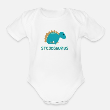 Little Stegosaurus - Organic Short Sleeve Baby Bodysuit