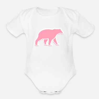 Mammal mammalian A Great Dark Bear - Organic Short-Sleeved Baby Bodysuit