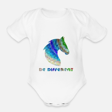Different be different - Organic Short-Sleeved Baby Bodysuit
