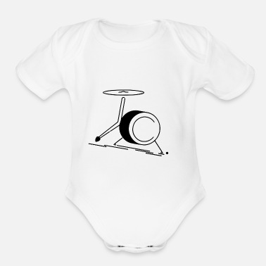 Crook jc.mt drums - Organic Short-Sleeved Baby Bodysuit