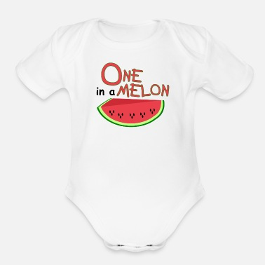 Melon ONE in a MELON 4 - Organic Short-Sleeved Baby Bodysuit