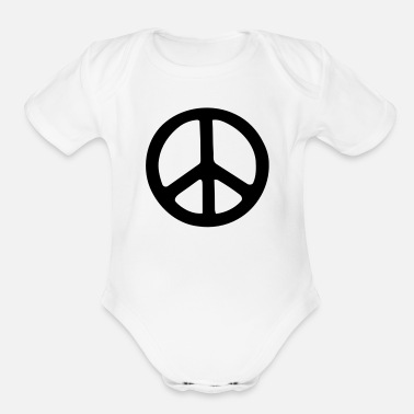 Peace Sign PEACE SIGN - Organic Short Sleeve Baby Bodysuit