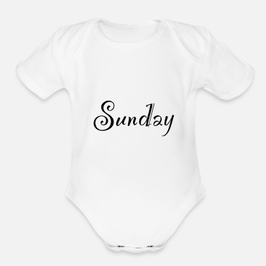 Sunday Sunday - Organic Short Sleeve Baby Bodysuit