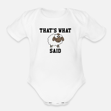 THAT'S WHAT SHEEP SAID - Organic Short-Sleeved Baby Bodysuit
