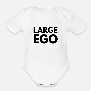 Large ego large - Organic Short-Sleeved Baby Bodysuit