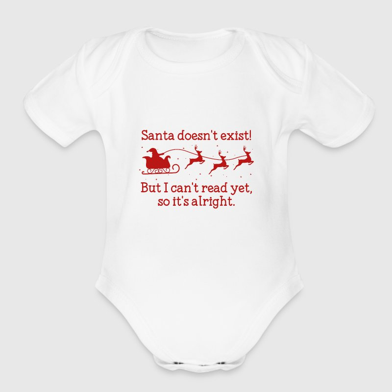 Santa Doesn't Exist! - Organic Short Sleeve Baby Bodysuit