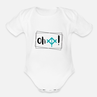 Css Web Design Oh Crop - Organic Short-Sleeved Baby Bodysuit