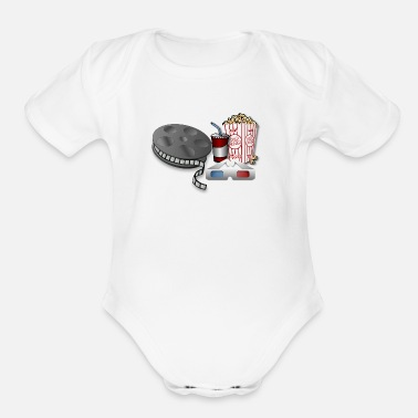 Popcorn 3D Cinema Movie Popcorn - Organic Short-Sleeved Baby Bodysuit