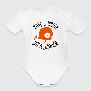 Save Whales - Organic Short Sleeve Baby Bodysuit