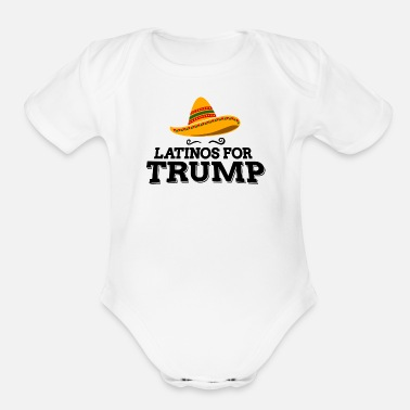 Latinos for Trump 2020 - Organic Short-Sleeved Baby Bodysuit