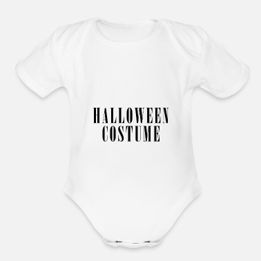Costume-garb HALLOWEEN COSTUME - Organic Short-Sleeved Baby Bodysuit