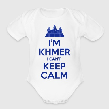 i'm Khmer I Can't Keep Calm - Organic Short Sleeve Baby Bodysuit