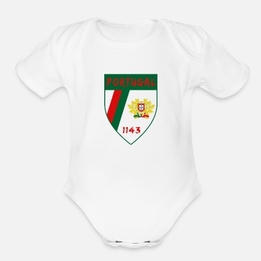 Portugal Portugal coat of arms / Lisbon Madeira - Organic Short-Sleeved Baby Bodysuit