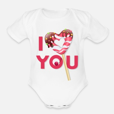 Sweetheart Sweetheart - Organic Short Sleeve Baby Bodysuit