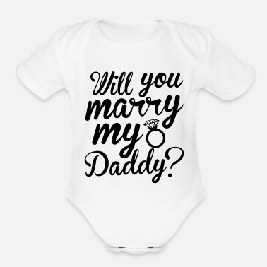 Marry Marry Me - Organic Short-Sleeved Baby Bodysuit
