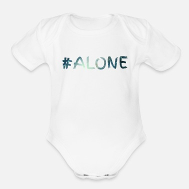 Alone alone - Organic Short-Sleeved Baby Bodysuit