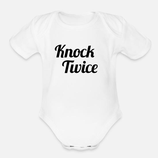 cool words Organic Short-Sleeved Baby Bodysuit | Spreadshirt