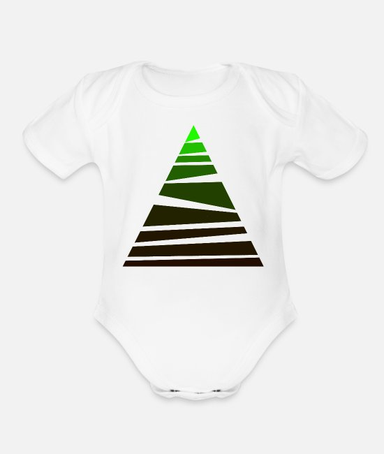 Minimum Baby One Pieces - MINIMAL FOREST - Organic Short-Sleeved Baby Bodysuit white