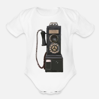 Pay pay phone2 - Organic Short Sleeve Baby Bodysuit