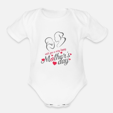 Day mother day - Organic Short-Sleeved Baby Bodysuit