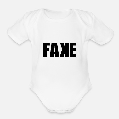 Fake Fake - Organic Short-Sleeved Baby Bodysuit