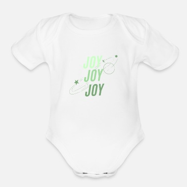 Joy JOY JOY JOY - Organic Short-Sleeved Baby Bodysuit