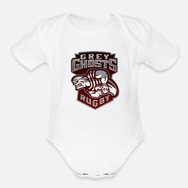 Grey Ghosts Rugby - Organic Short-Sleeved Baby Bodysuit