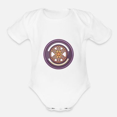Car Tires Racing Car Tire - Organic Short-Sleeved Baby Bodysuit