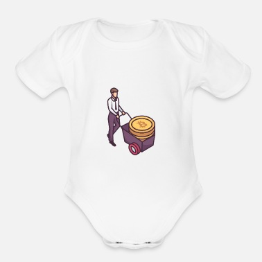 Currency Virtual Currency - Organic Short-Sleeved Baby Bodysuit