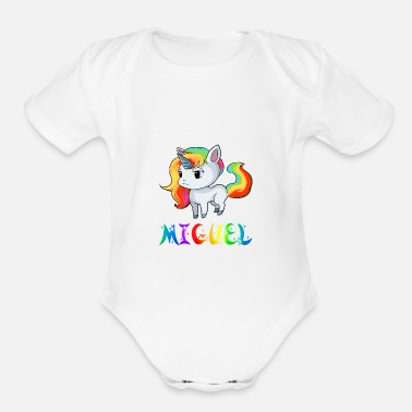 Miguel Miguel Unicorn - Organic Short-Sleeved Baby Bodysuit