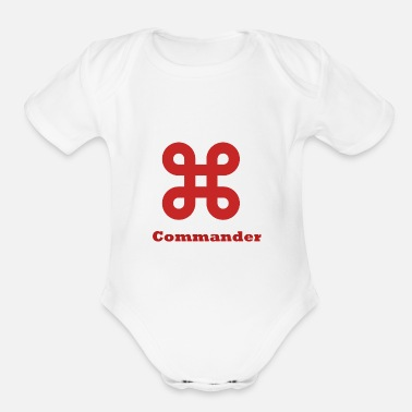 Command Commander - Organic Short-Sleeved Baby Bodysuit