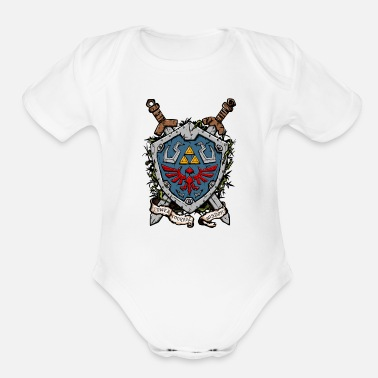 Shield The Shield - Organic Short-Sleeved Baby Bodysuit