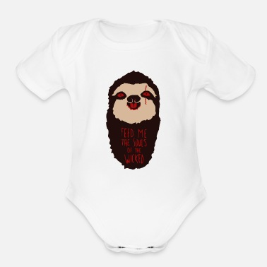 Hunger Demonic Hunger - Organic Short-Sleeved Baby Bodysuit