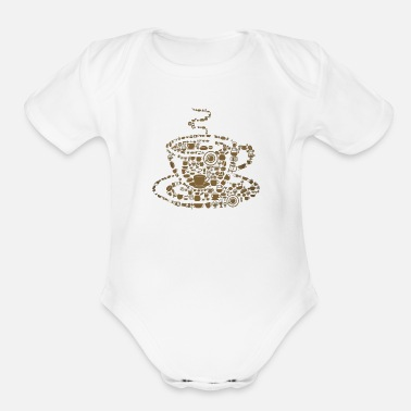 Coffee Coffee Beans - Organic Short-Sleeved Baby Bodysuit