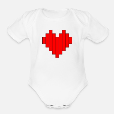 Big Heart Big Heart - Organic Short-Sleeved Baby Bodysuit