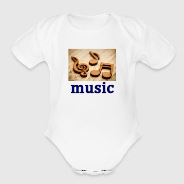 music heals - Organic Short Sleeve Baby Bodysuit
