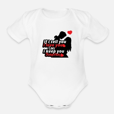 Marry Love relationship Valentines day gift Couple - Organic Short Sleeve Baby Bodysuit