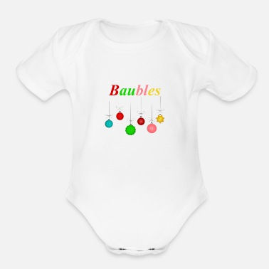 Bauble Baubles - Organic Short-Sleeved Baby Bodysuit