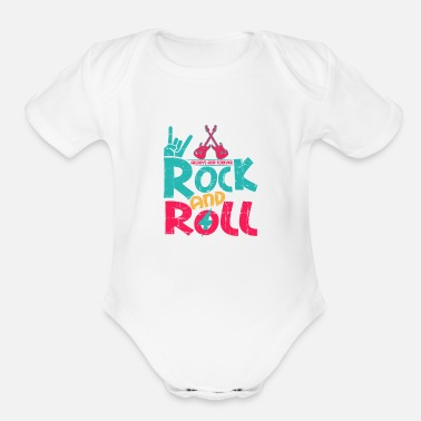 Rock and roll - Organic Short-Sleeved Baby Bodysuit