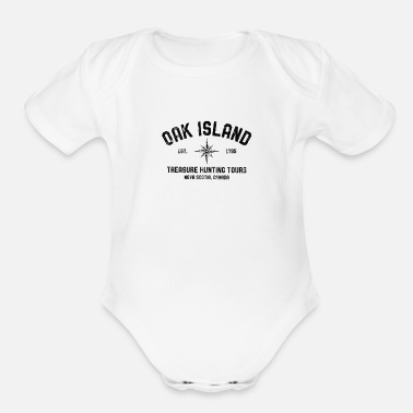 Treasure Oak Island Treasure Hunting Tours Vintage Compass - Organic Short-Sleeved Baby Bodysuit