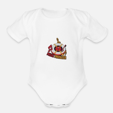 Music Producer Producers of the Music - Organic Short-Sleeved Baby Bodysuit