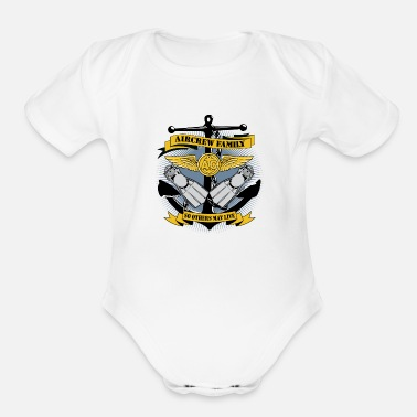 Navy Aviation U.S. Navy Search and Rescue Swimmer Logo - Organic Short-Sleeved Baby Bodysuit