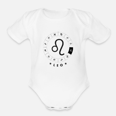 Leo Leo - Organic Short-Sleeved Baby Bodysuit