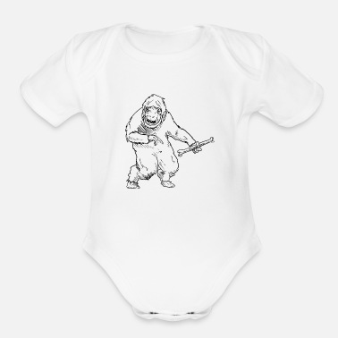 Iceman Yeti - Big Foot - Iceman - Organic Short-Sleeved Baby Bodysuit