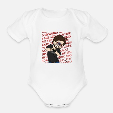 Fine THIS IS FINE - Organic Short Sleeve Baby Bodysuit