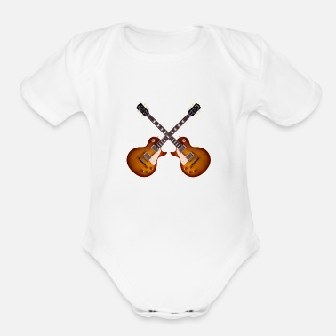 Sg Guitar old les paul 59 - Organic Short-Sleeved Baby Bodysuit