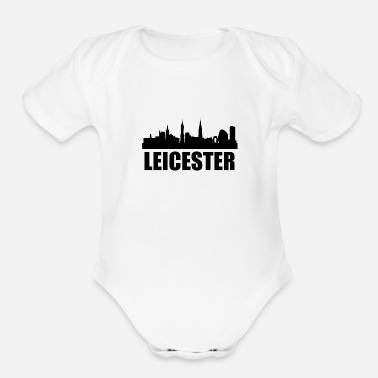 Leicester Leicester Skyline - Organic Short-Sleeved Baby Bodysuit