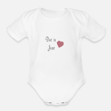 Due in June - Organic Short-Sleeved Baby Bodysuit