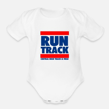 Track And Field Run Track Central High Track Field - Organic Short Sleeve Baby Bodysuit