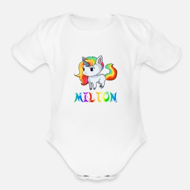 Milton Milton Unicorn - Organic Short-Sleeved Baby Bodysuit